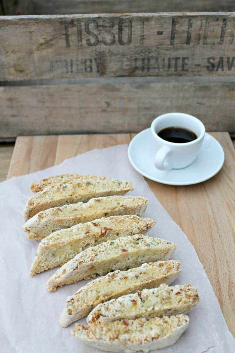 Mango, lime and pistachio biscotti - BakingQueen74