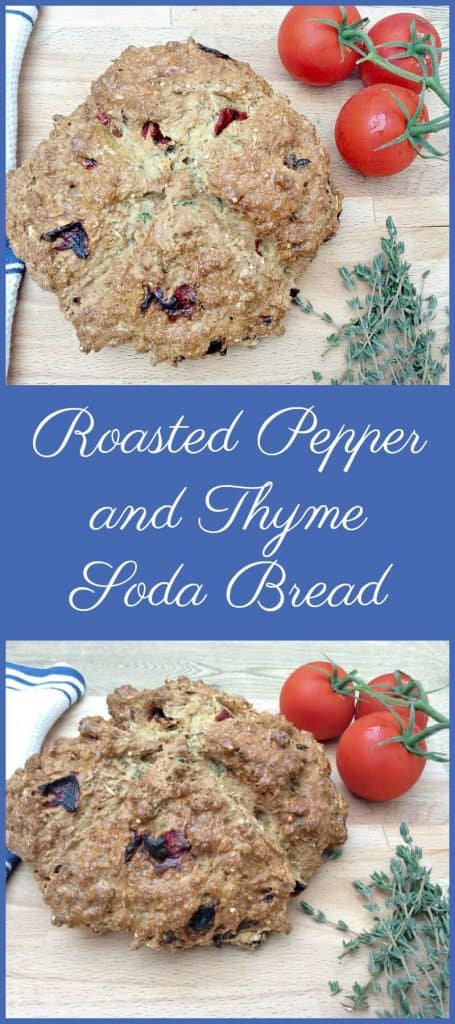 Roasted pepper and thyme soda bread recipe
