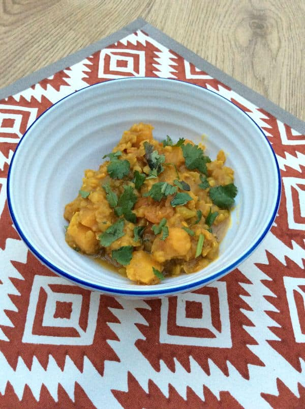 Organic lentil and sweet potato curry - BakingQueen74