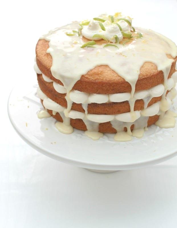 Lemon Drizzle Layer Cake - BakingQueen74