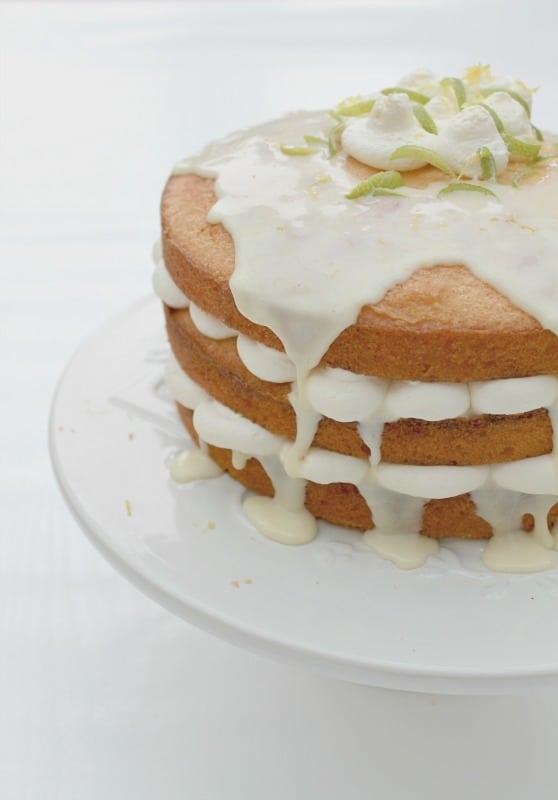 Double Layer Lemon Drizzle Cake