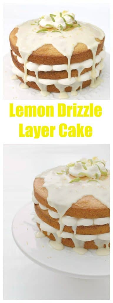 Lemon drizzle layer cake