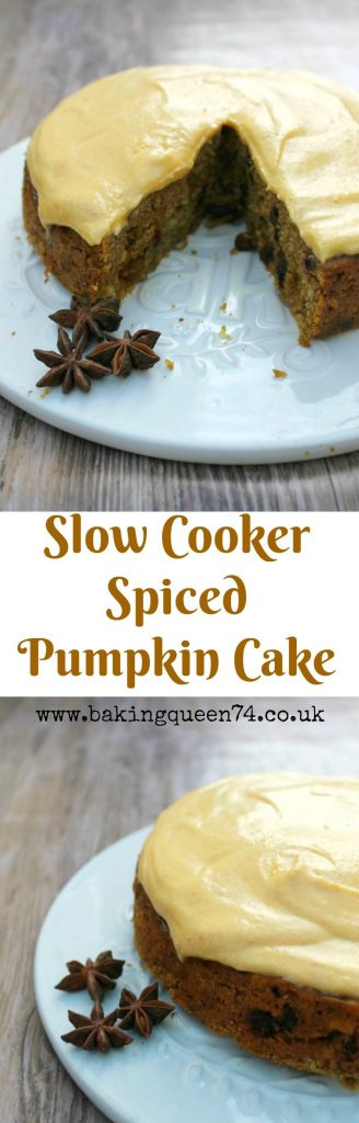 Slow cooker spiced pumpkin cake