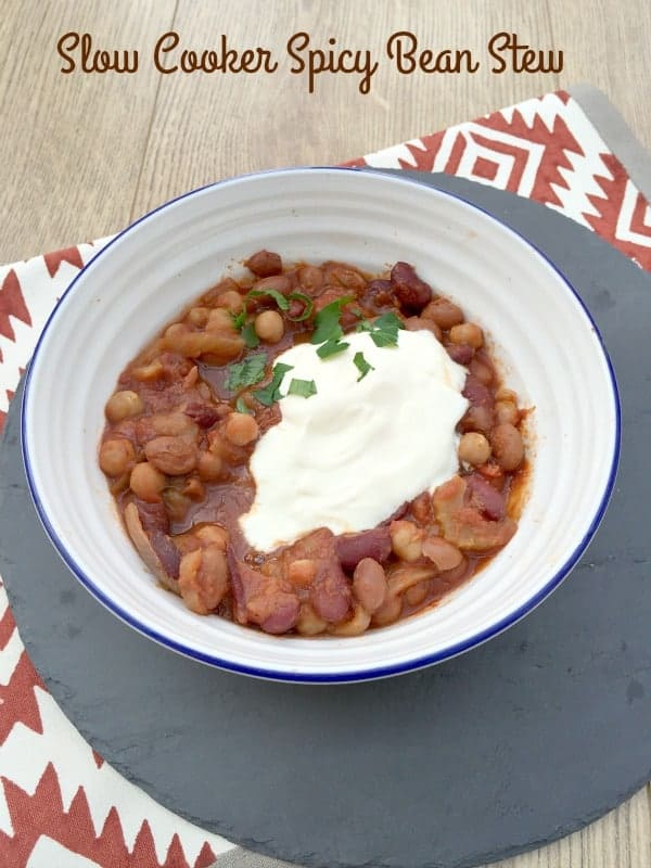 Slow Cooker Spicy Bean Stew from BakingQueen74