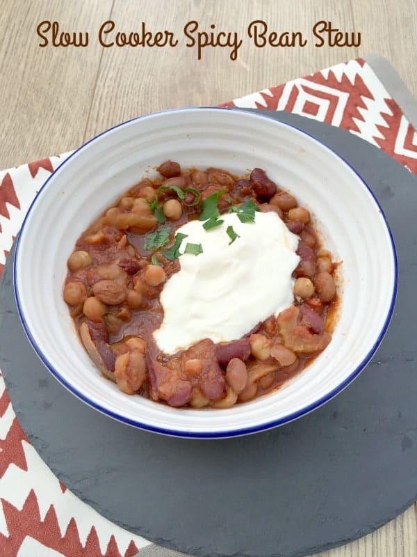 Slow Cooker Spicy Bean Stew from BakingQueen74