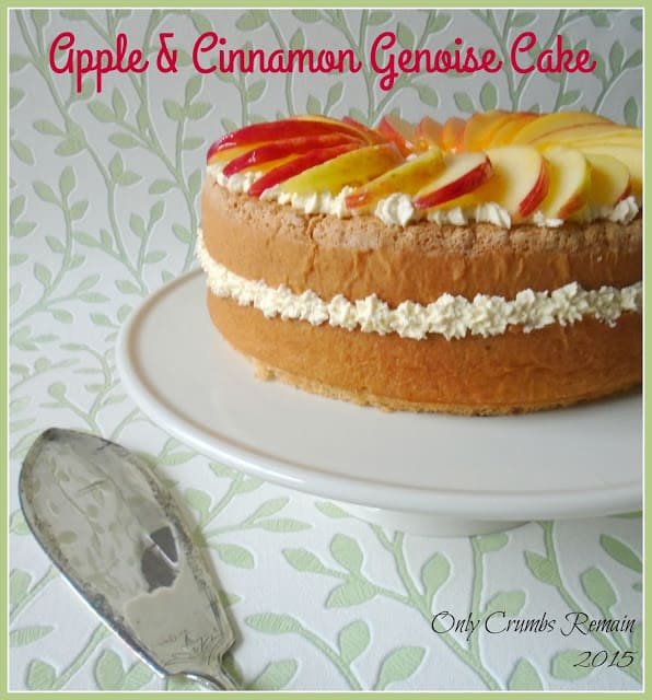 Apple & Cinnamon Genoise with Title