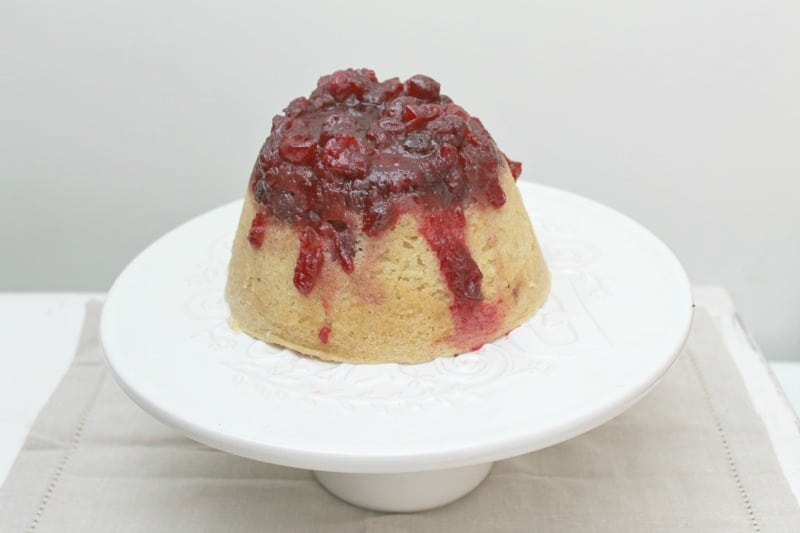 Cranberry and vanilla steamed pudding - BakingQueen74