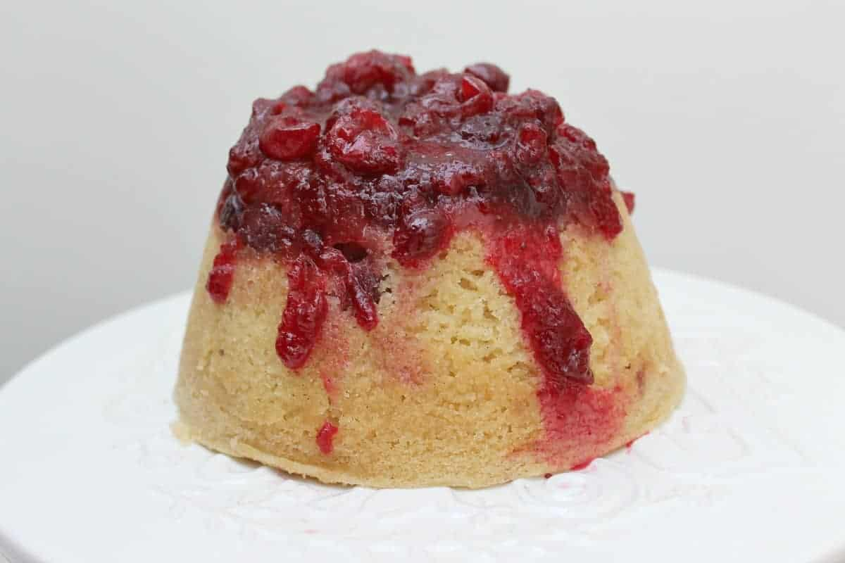 Slow Cooker Cranberry and Vanilla Steamed Pudding and the Slow Cooked Challenge
