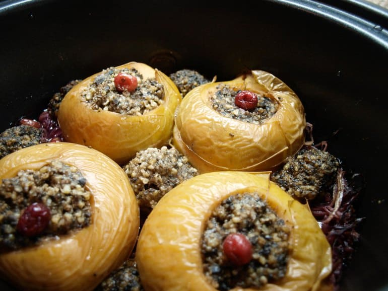 Haggis stuffed apples from Farmersgirl Kitchen