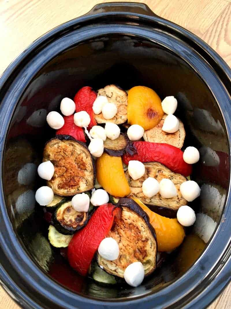 Vegetable bake in the slow cooker
