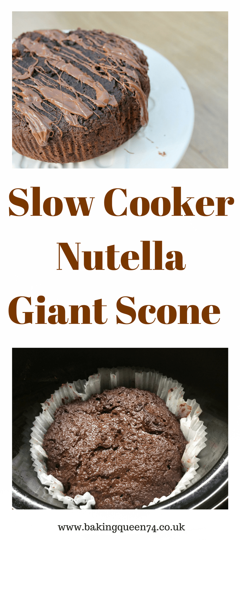 Slow Cooker Giant Nutella Scone