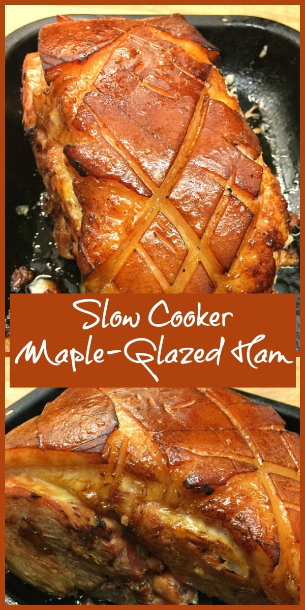 Slow Cooker Gammon Glazed with Maple Syrup