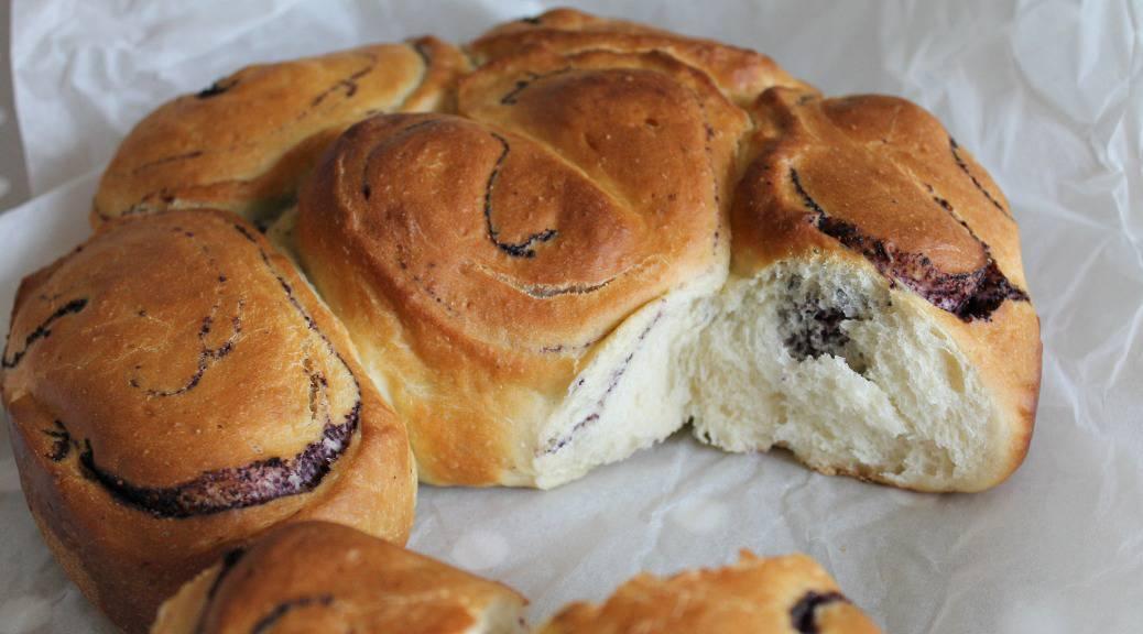 Blueberry Swirl Brioche Buns