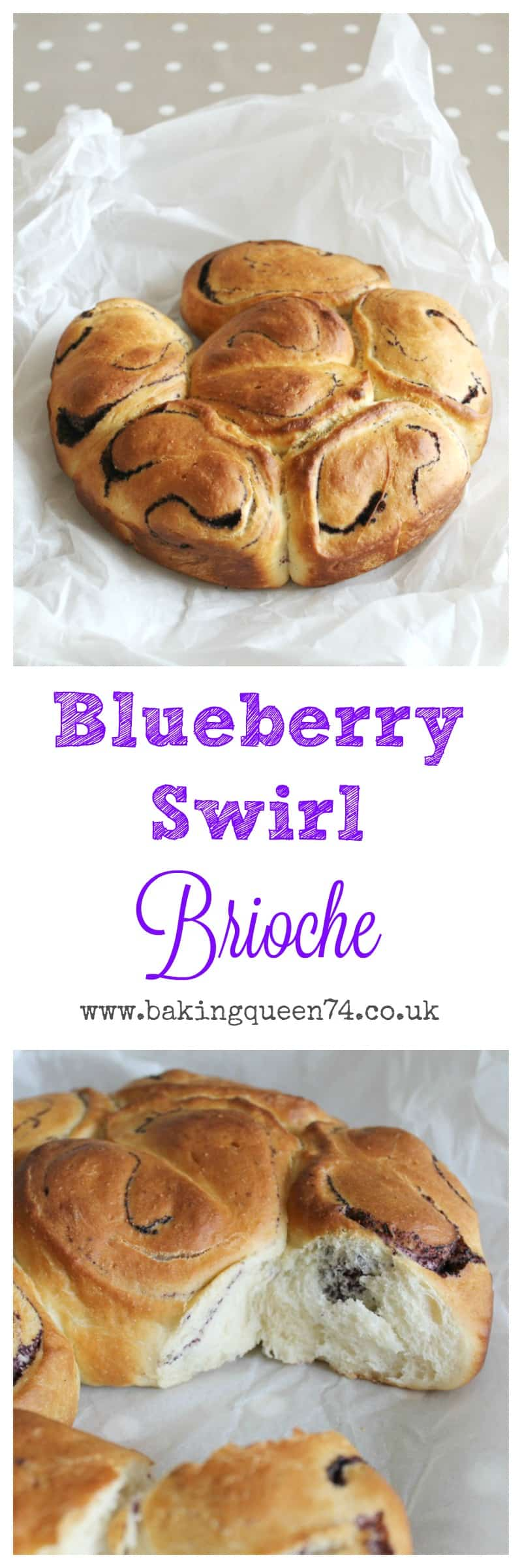 Blueberry Swirl Brioche