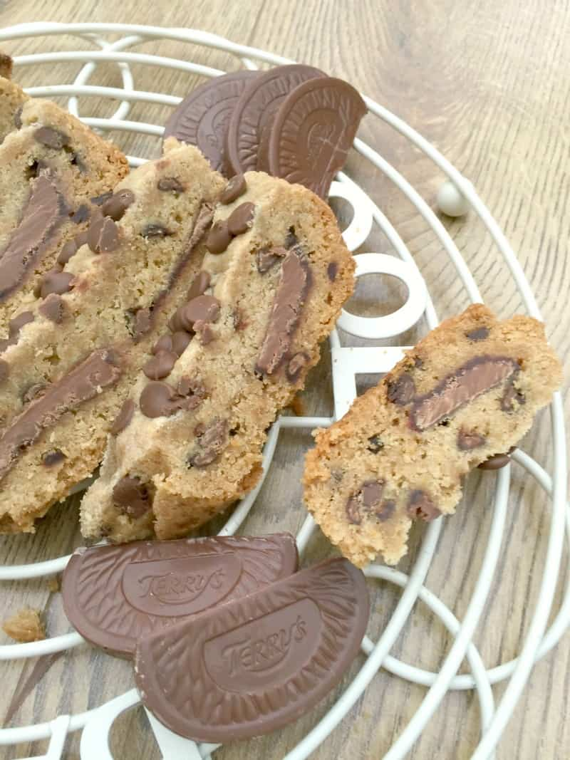 Slow cooker chocolate orange stuffed cookie