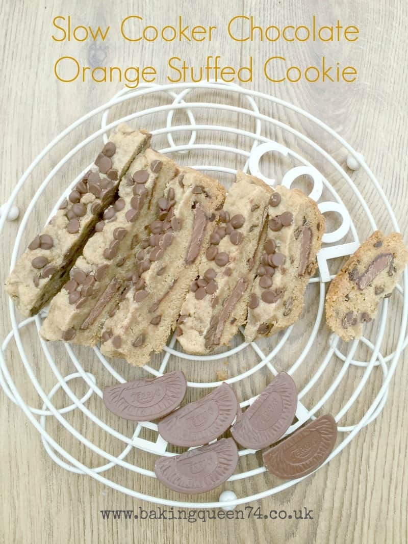 Slow Cooker Chocolate Orange Stuffed Cookie from BakingQueen74.co.uk
