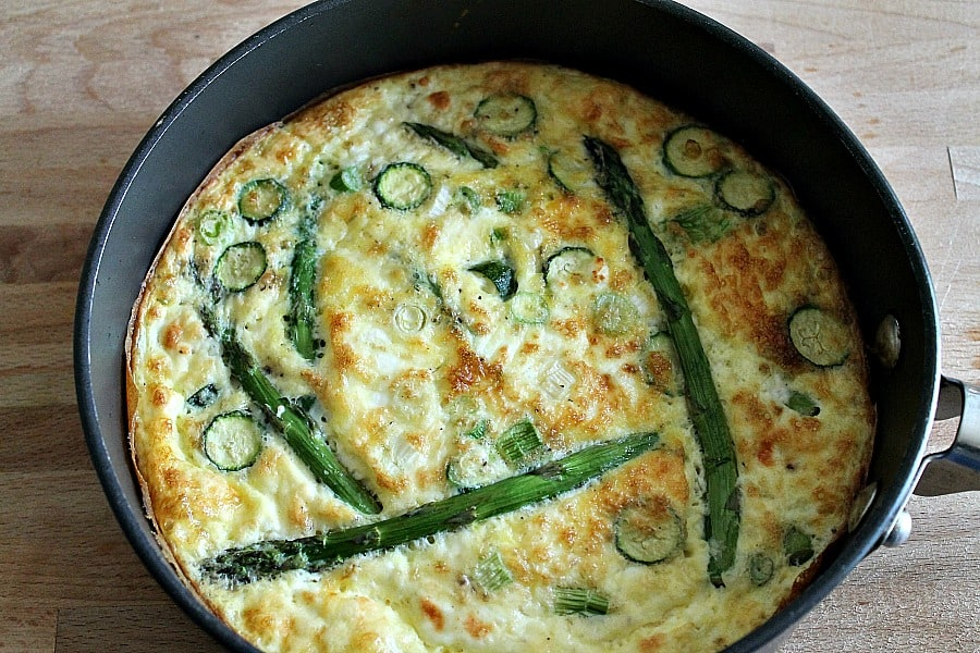 Spring Vegetable Frittata from Hungry Healthy Happy by Dannii Martin
