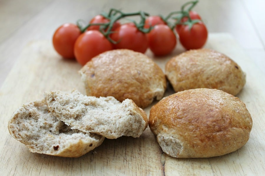 Wholemeal Chilli Bread Rolls