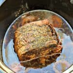 Brisket ready to eat, in pot.