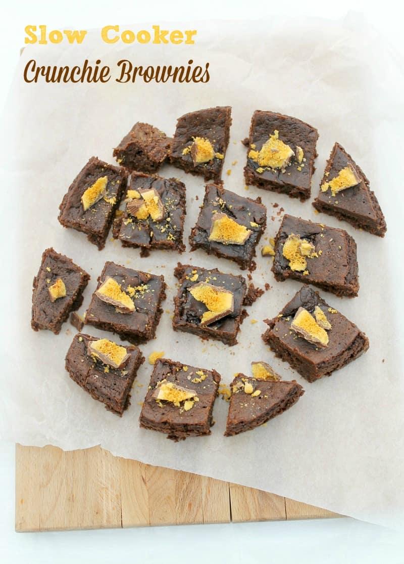 Slow Cooker Crunchie Brownies