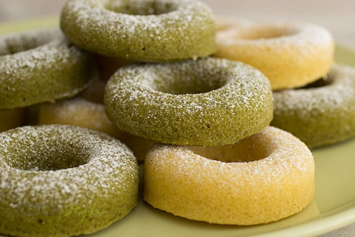 Vanilla and matcha baked doughnuts from Cookstyle