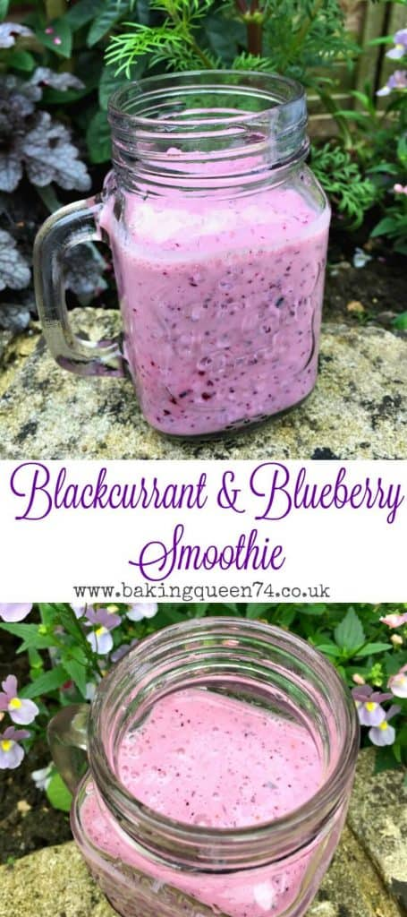 Blackcurrant and blueberry smoothie