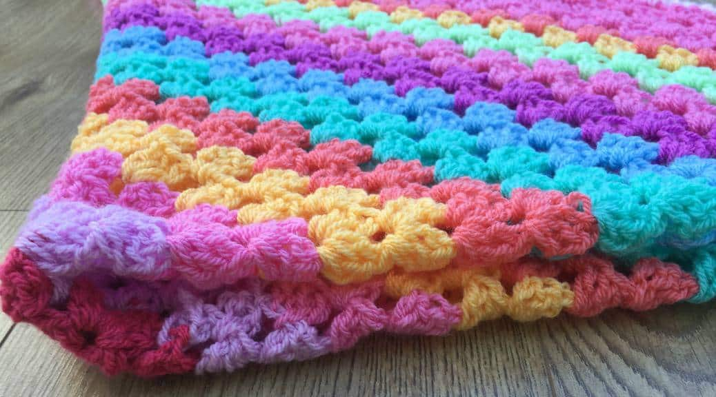 Giant Granny Square Crochet Baby Blanket