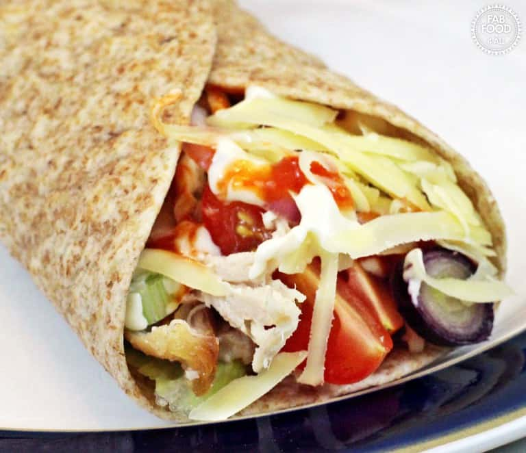 Easy cheesy chicken wraps from Fab Food 4 All
