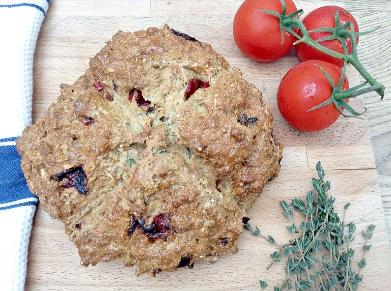 Roasted pepper and thyme soda bread - my 2015 GBBO bakes