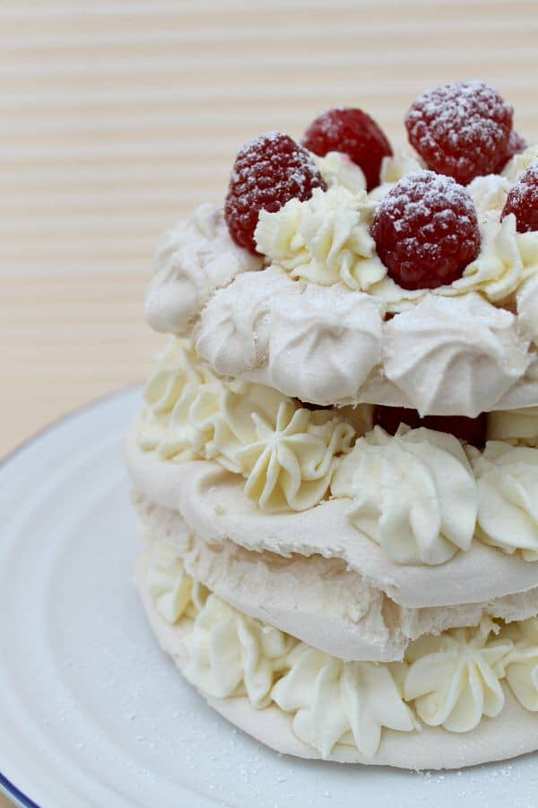 Layered meringue cake - my 2015 GBBO bakes