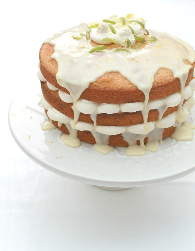Lemon drizzle layer cake - my 2015 GBBO bakes