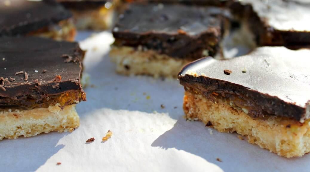Jaffa Shortbread Slice