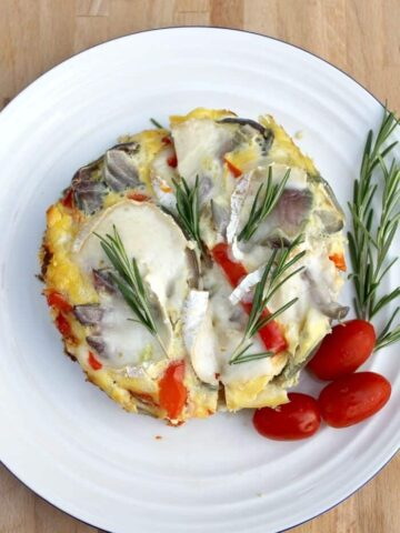 Slow Cooker Goats Cheese Frittata