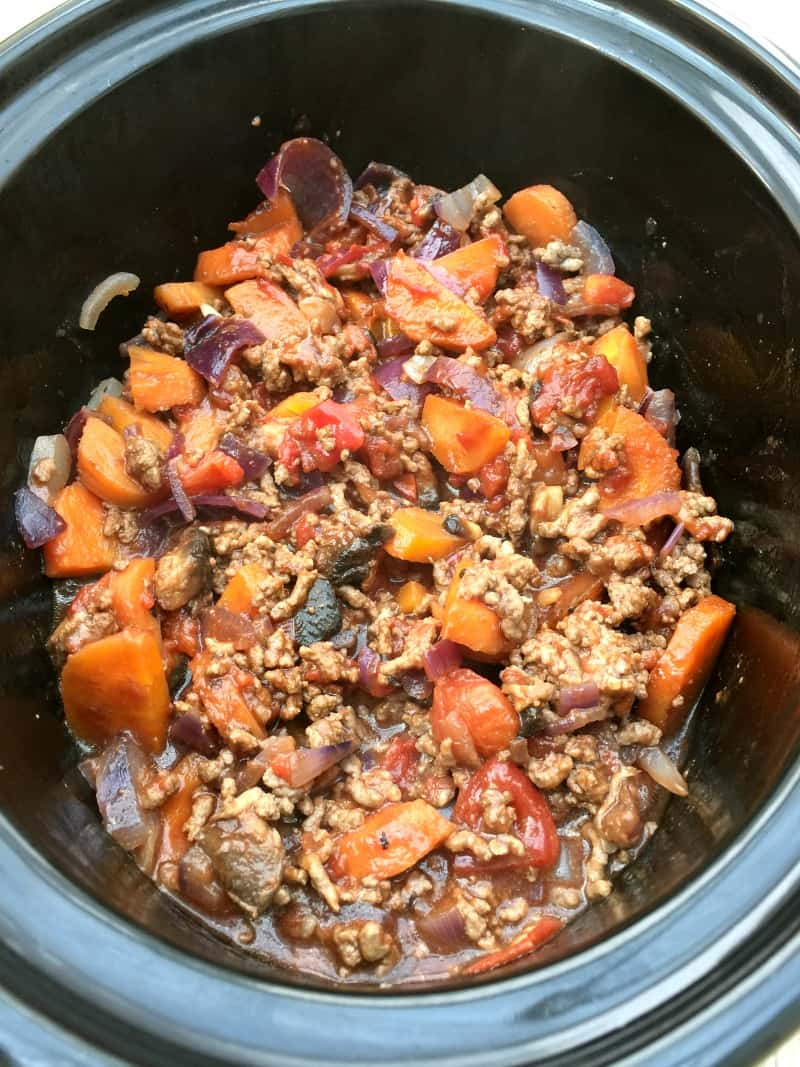 Slow cooker cottage pie filling