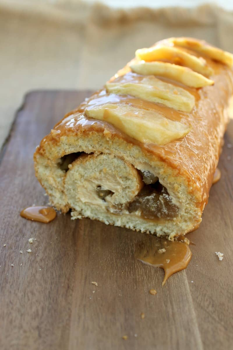 Caramel Apple Roulade