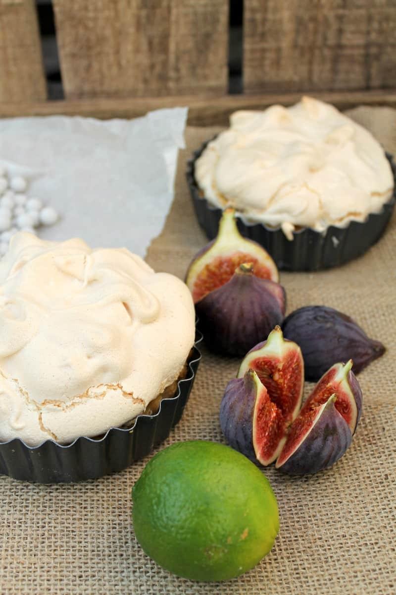 Cherry lime meringue pie