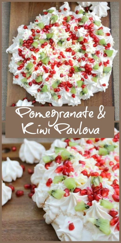 Pomegranate and Kiwi Pavlova
