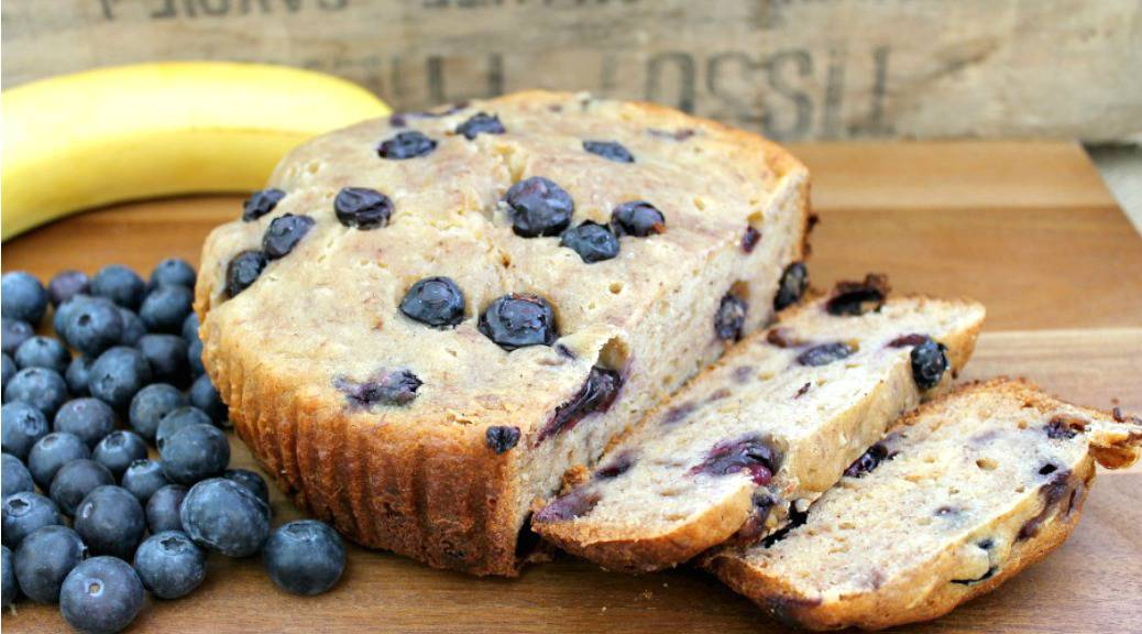 Slow Cooker Blueberry Banana Bread