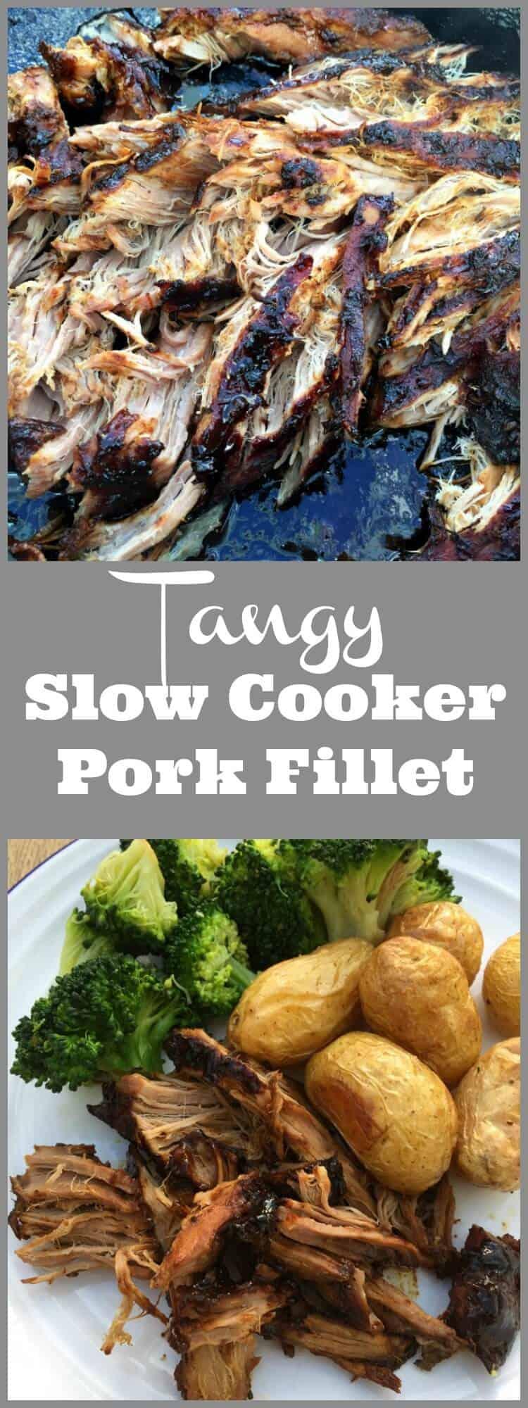 Tangy Slow Cooker Pork Fillet - BakingQueen74