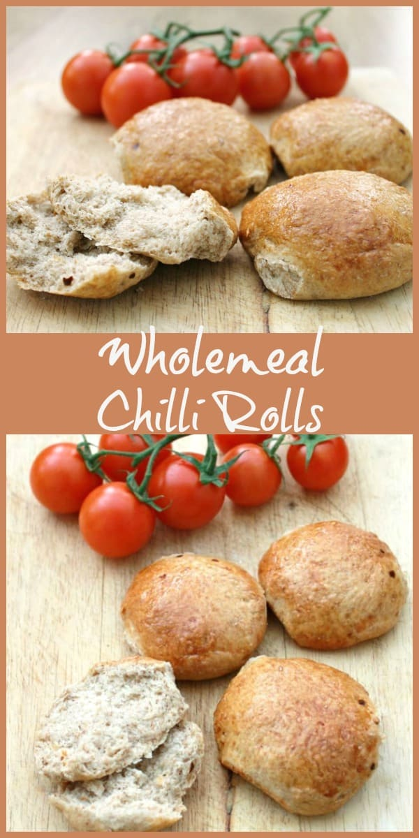 wholemeal chilli rolls, collage