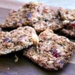 Cherry almond flapjack slices