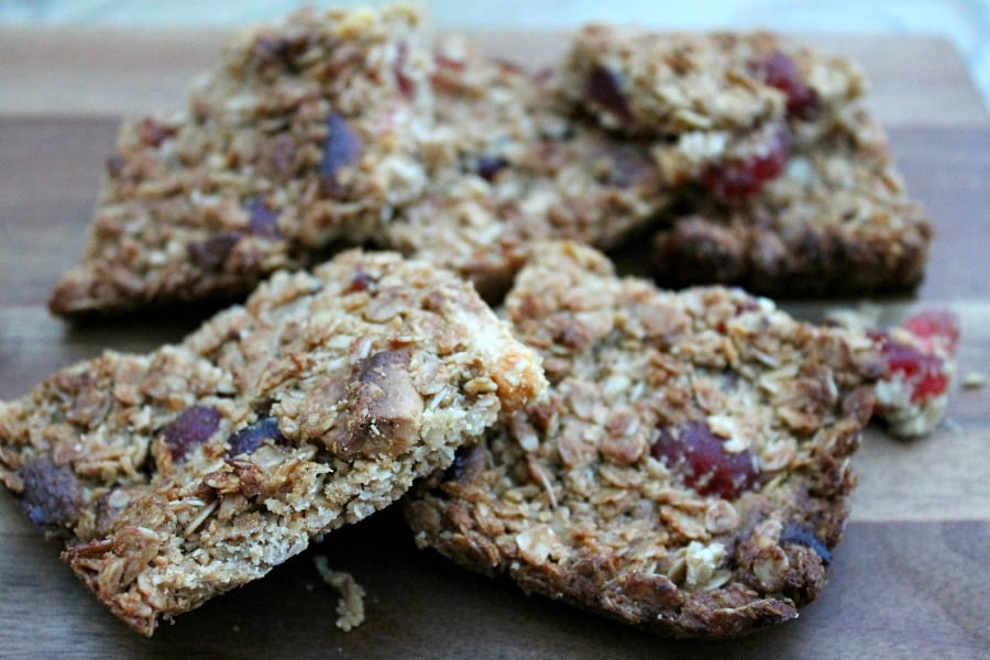 Cherry, Almond and White Chocolate Flapjacks
