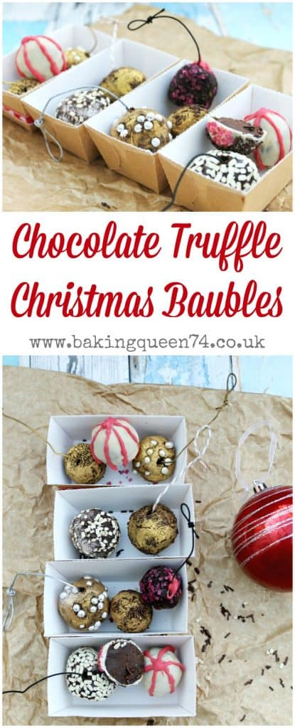 Chocolate Truffle Christmas Baubles - a fun festive bake ideal for Christmas gifts for your friends