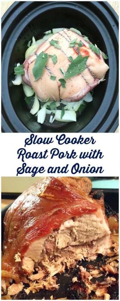 Slow cooker roast pork with sage and onion