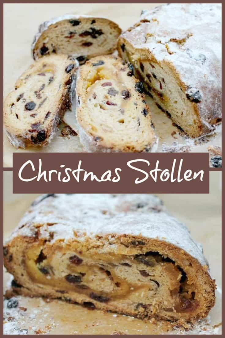 Christmas Stollen recipe, a fruited bread filled with a swirl of marzipan