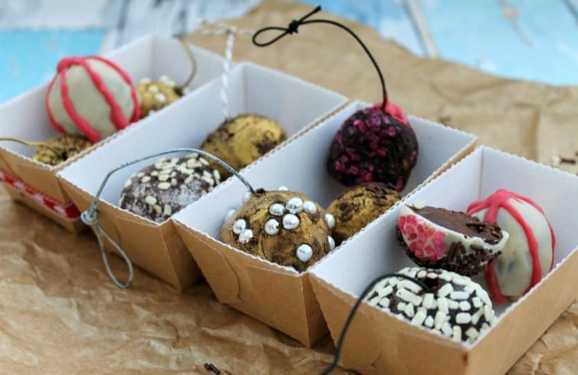 Chocolate Truffle Christmas Baubles