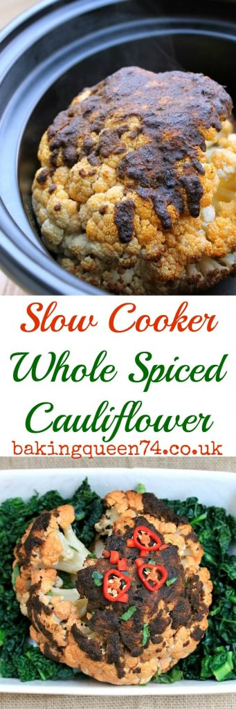 Slow Cooker Whole Spiced Cauliflower