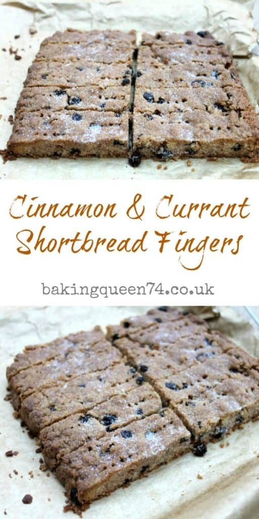 Cinnamon and currant shortbread fingers - a quick and easy bake!