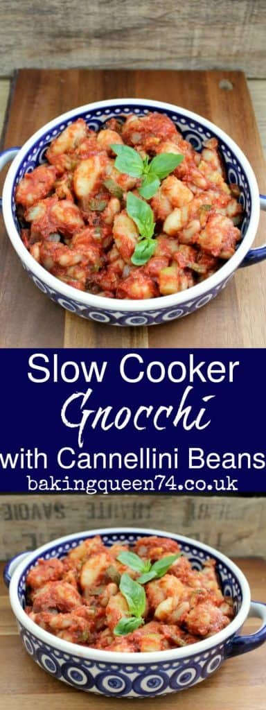 Slow Cooker Gnocchi with Cannellini Beans - BakingQueen74
