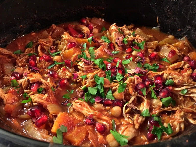 Tagine cooking in the slow cooker - so bright and colourful